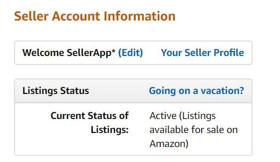 Amazon Vacation Mode